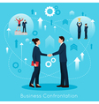 Constructive Business Confrontation Flat vector image vector image