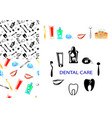 dental care set vector image vector image