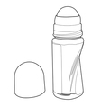 deodorant roll-on applicator out line vector image vector image