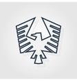 Eagle symbol - vector image vector image