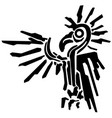 exotic bird graphic stencil vector image