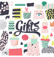 fashion design with presents and gift boxes vector image