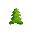 fir tree icon vector image vector image