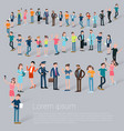 flat design c people waiting in line vector image