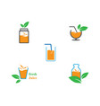 fresh juice logo icon vector image