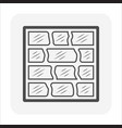 glass block or toilet wall icon design vector image vector image