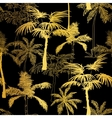 Golden Black Palm Trees Summer Seamless vector image vector image