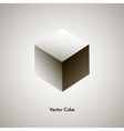 grayscale cube vector image vector image