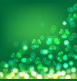green shamrock bokeh background for st patrick vector image