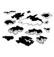 hand drawn sketch of abstract clouds vector image vector image