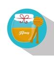 Honey jar design vector image