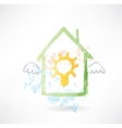 House and lamp grunge icon vector image vector image