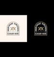 initial letter mv vm m v emblem logo template vector image vector image