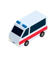 Isometric ambulance icon vector image