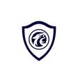 jaguar concept guard shield logo icon vector image
