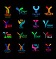letter y creative corporate identity icons signs vector image vector image