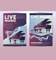 live music concert promo brochure template vector image vector image