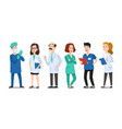 medicine doctors medical physician hospital vector image