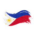 national flag of philippines designed using brush vector image vector image
