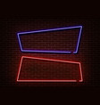 neon shape sign light border form isolated vector image vector image