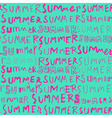 neon summer doodle seamless pattern vector image vector image