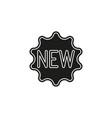new label sticker - new badge vector image