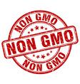 non gmo red grunge round vintage rubber stamp vector image vector image