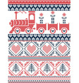 Nordic Christmas pattern with gravy train vector image vector image
