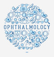 ophthalmology concept in circle vector image vector image