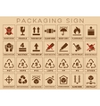 Packaging sign or symbols vector image vector image