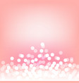 pink bokeh and lights abstract background vector image vector image