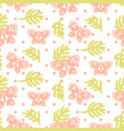 pink palm leaves and butterflies seamless vector image vector image