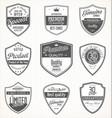 premium quality retro vintage badges vector image vector image