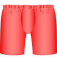 red mens boxer briefs vector image vector image