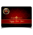 Red new year celebrate card vector image