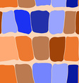 Reptile skin seamless pattern blue and orange vector image vector image