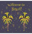 samba dancer vector image vector image