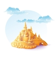 sand castle on the background of sky vector image vector image