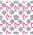 seamless pattern from hearts on white vector image