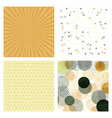 set of abstract stylish pattern stylish pattern vector image
