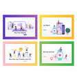 shopping delivery healthcare and social media vector image vector image