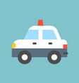 simple police car transportation icon vector image vector image