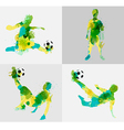 Soccer player kicks the ball with paint splatter vector image vector image