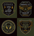 Special unit military emblems graphics vector image vector image