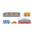 subway bus tram taxi public city and intercity vector image vector image