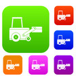 truck to lift cargo set color collection vector image
