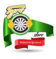 tyre store or repair logo with red ribbon modern vector image vector image