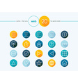 Web outline style flat icons set vector image vector image