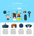 website page template with flat style vector image vector image