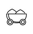 wheelbarrow with soil rural agriculture thick line vector image